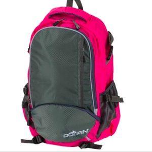 Dolfin Ready Room Swim Backpack Pink & Grey NWT